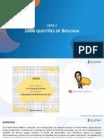 Lista 1 1000 Questões de Biologia