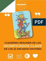 Cuaderno Resumen 22 Arcanos Mayores- Congreso Tarot