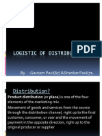 Logistic of distribution