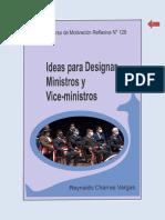 IDEAS PARA DESIGNAR MINISTROS Y VICE-MINISTROS