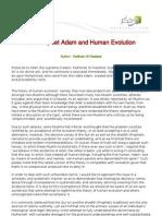 the_prophet_adam_and_human_evolution
