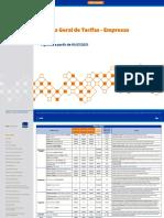 tabela-geral-de-tarifas-Itau-Empresas