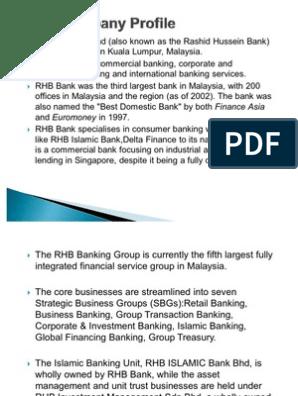 Rhb Company Profile Banks Financial Services