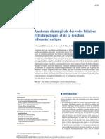 Anatomie chirurgicale des voies biliaires extrahépatiques et de la jonction biliopancréatique,
