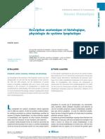 Description anatomique et histologique, physiologie du système lymphatique
