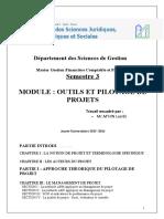 Gfcf Outils Et Pilotage de Projets Taf Version Finale