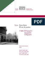 Catalogue de la 1ere vente Beres -  typo-biblio