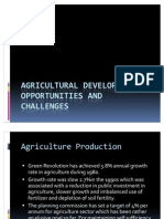 Agricultural Development Opportunities and Challenges