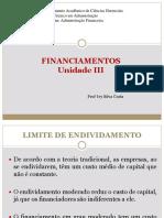 18 - Financiamentos Unidade III