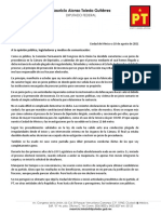 Carta Abierta Mauricio Toledo