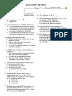 5 - Evaluación de Calor, Temperatura y dilatación Térmica