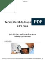 TEORIA GERAL DA INVESTIGAÇÃO 10