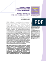 Ensaio Sobre o Desenvolvimento Humano e Análise Do Comportamento