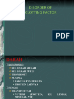 Disorder of Clotting Factor
