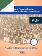 Programa de Formacao Sindical Organizacao Sindical e Desenvolvimento Local Modulo i