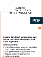 Materi Statiska Pertemuan 7 Menghitung Data Hilang