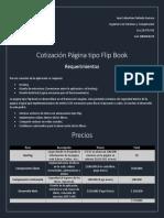 Cotización página Flip Book