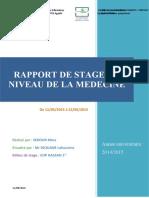 RAPPORT DE STAGE AU NIVEAU DE LA CHIRURGIE