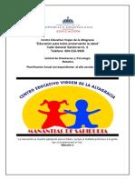 Investigacion de planificacion Colegio Virgen de la Altagracia