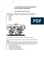 ENSAYO DE NOVIEMBRE  DE HISTORIA GEOGRAFÍA Y CIENCIAS SOCIALES