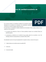 Modelos dinámicos de cantidad económica de pedido (CEP)