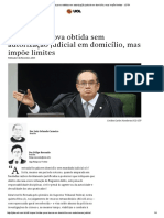STF valida prova obtida sem autorização judicial em domicílio, mas impõe limites - JOTA