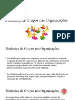 dinâmica de grupos - estudos