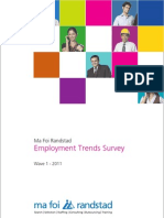 Indicus Ma Foi Randstad Employment Trends Survey - Wave 1 - 2011