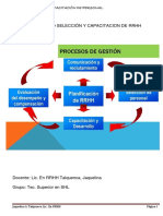 SEMINARIO SELECCIÓN Y CAPACITACIÓN DE PERSONAL