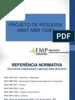 CARTILHA - CITAÇÃO, REFERENCIAS - Apresentação de projeto de pesquisa FMP_2018