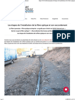 Étapes de l'installation de la fibre optique et raccordement