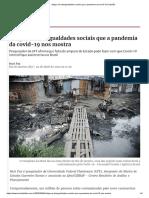 Artigo _ as Desigualdades Sociais Que a Pandemia Da Covid-19 _ Opinião