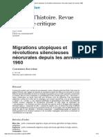 Migrations utopiques et révolutions silencieuses néorurales depuis les années 1960