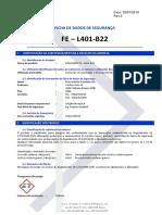 Ficha de segurança - FE -L401-B22 - Em Português