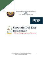 8.- Servicio dominical ANGLICANO  (Diacono)