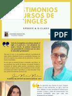TESTIMONIOS SOBRE CURSOS DE INGLÉS UACh 2021