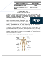Texto Complementar - O Corpo Humano Sistema Esquelético 09022021 - 7º Ano.