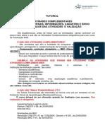 TUTORIAL - Atividades Complementares_ Temas Transversais, Cadastro e Postagem Das Atividades (1)