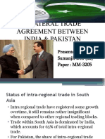 BILATERAL TRADE AGREEMENTS BETWEEN INDIA & PAKISTAN