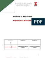 Silabo de Arquitectura Bioclimatica