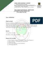 GUÍA DIRECCIÓN DE GRUPO 9 DE AGOSTO DE 2021 bachillerato
