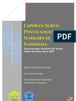 Laporan survei penyalahgunaan narkoba 2008