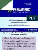 As bases políticas da República Oligárquica