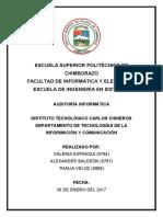 Ejemplo de Auditoría Informática