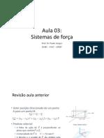 Mec_apl_-_esa - Aula 3 - Sistemas de Força