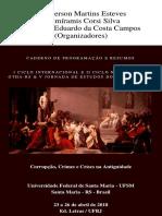 Caderno de Programacao e Resumos Corrupc
