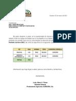 INTENCION DE SIEMBRA CICLO LLUVIOSO 2021