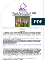 Newsletter 30th March 2011