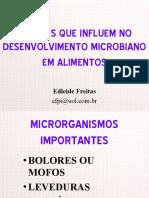 FATORES DO DESENVOLVIMENTO MICROBIANO