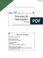Aula 01 - Processo de Fabricação I (1)
